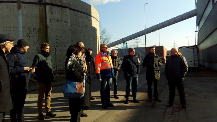 Visit to Bottrop wastewater treatment plant