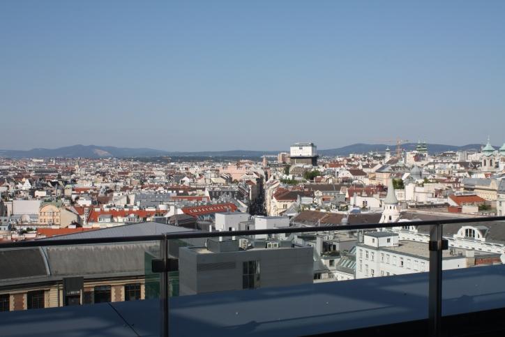 View from Summer School venue TU Wien Sky